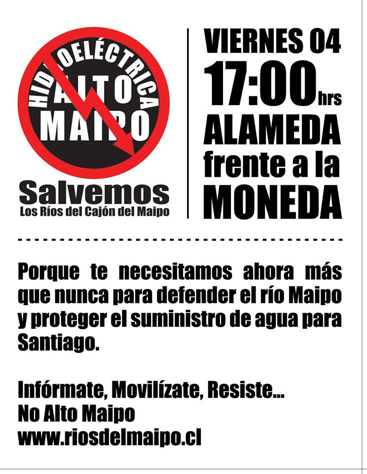 Este 04 de julio todos decimos #BacheletNoAltoMaipo!!