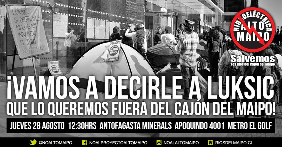 Manifestación pacífica #No Alto Maipo