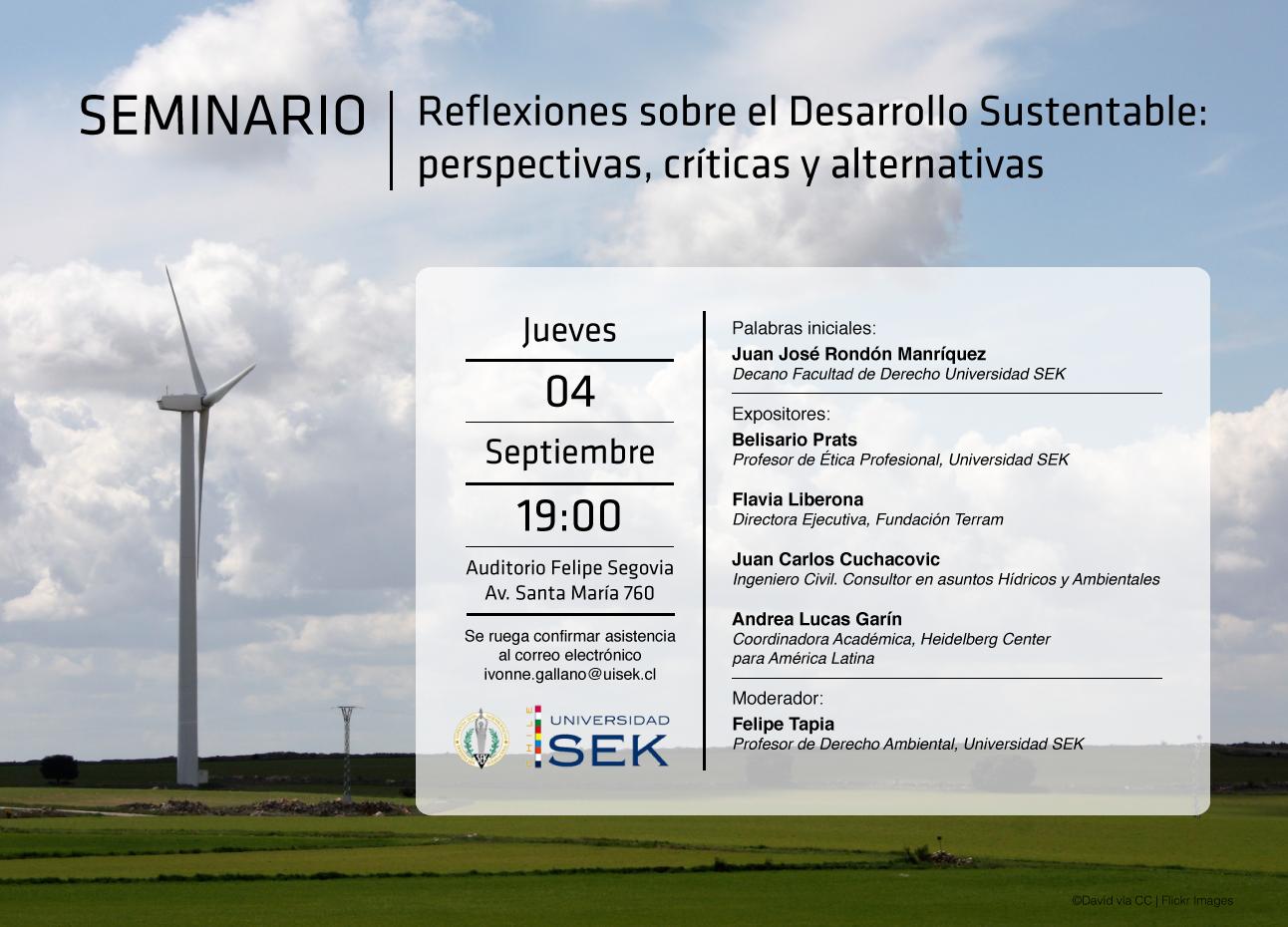 """Seminario: Reflexiones sobre el desarrollo sustentable: """"perspectivas, críticas y alternativas"""""""