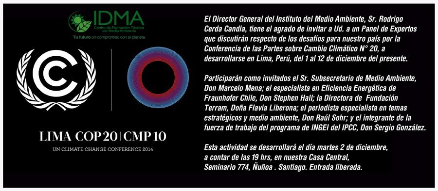 Panel de Expertos Debaten Sobre la COP20 de Lima