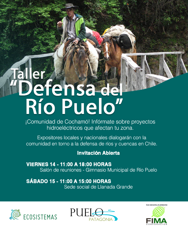 ONG´s ofrecen taller a la comunidad de Cochamó sobre proyectos hidroeléctricos que afectan la zona