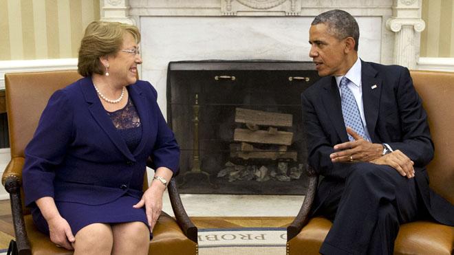 Bachelet se reúne con Obama para acelerar negociación por el TPP