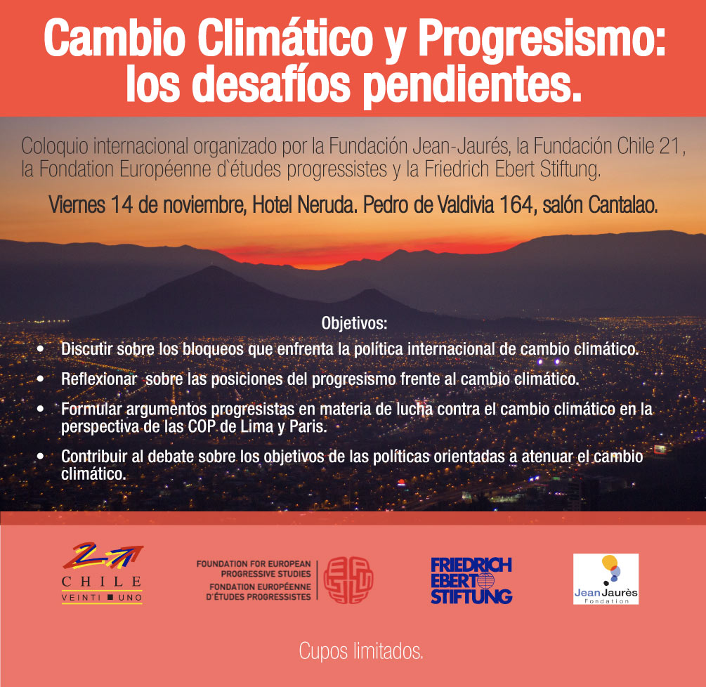 Coloquio Internacional Cambio Climático y Progresismo: los desafíos pendientes