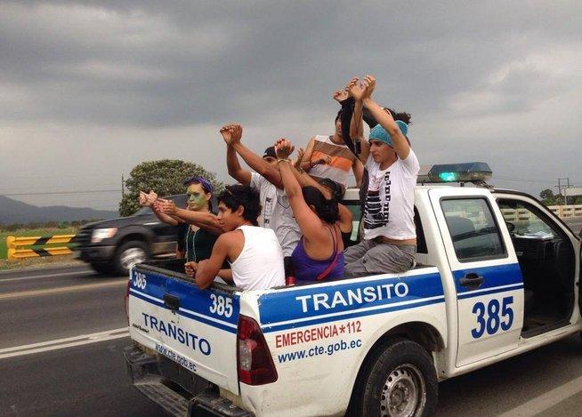Retienen a 'Caravana Climática' que iba a Cumbre de los Pueblos en Lima