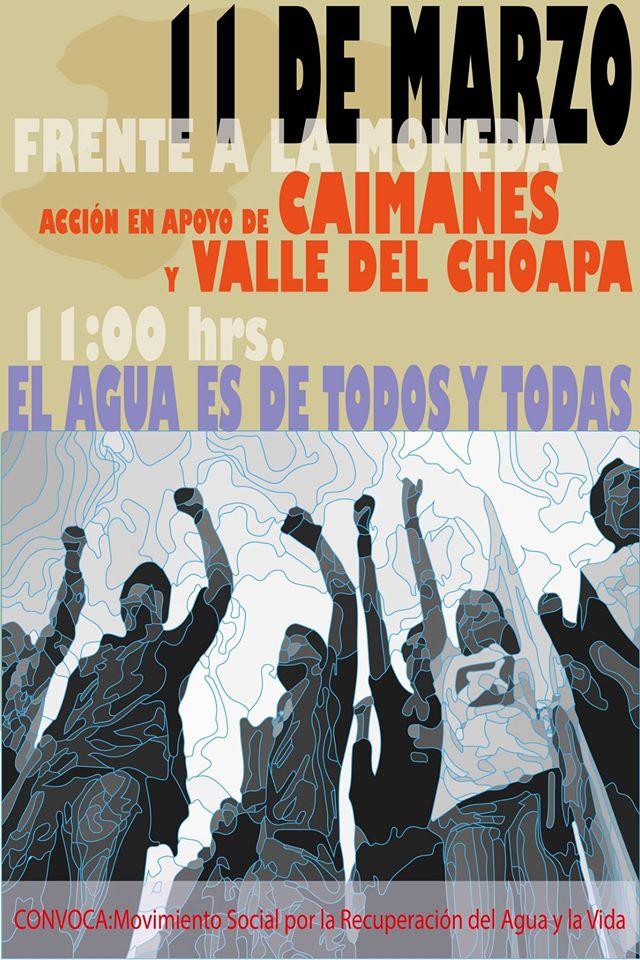 Apoyo a Caimanes y El Choapa frente a La Moneda