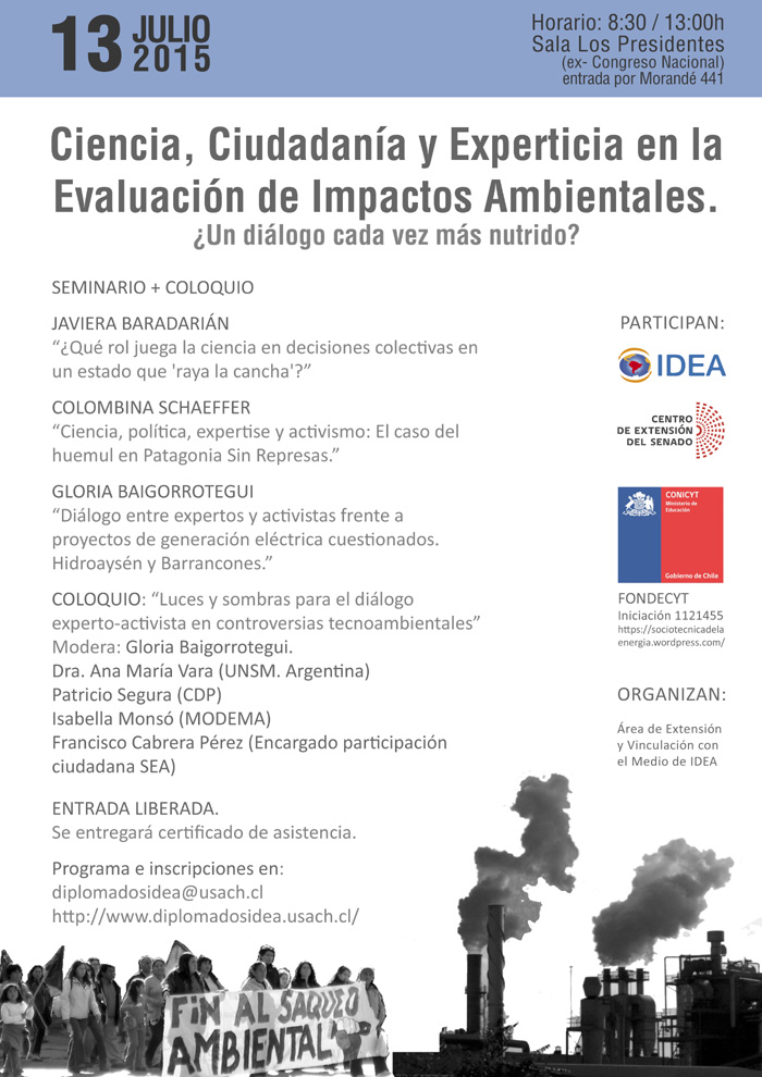 Coloquio: Ciencia, Ciudadanía y Experticia en la Evaluación de Impactos Ambientales
