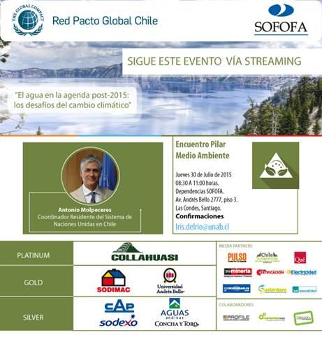 """ENCUENTRO: El Agua en la Agenda Post 2015 """"Los Desafíos del Cambio Climático"""""""