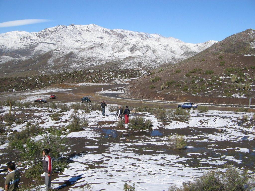 También nevó en el sector de Tulahuén