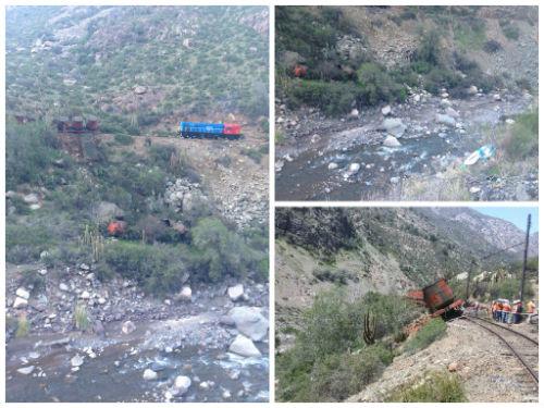 Temen contaminación en Río Aconcagua por descarrilamiento de tren de Codelco