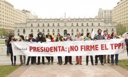 """Chile Mejor sin TPP: """"Gobierno está apurado en firmar el Tratado y todavía no explica sus beneficios"""""""