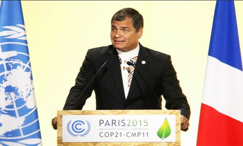 Correa propone crear corte internacional de justicia ambiental