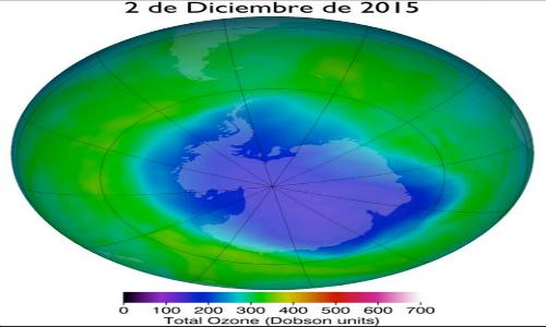 Agujero de ozono sobre la Antártica alcanza niveles récord para el mes de diciembre