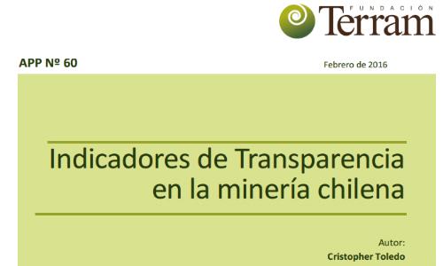 Indicadores de Transparencia en la minería chilena