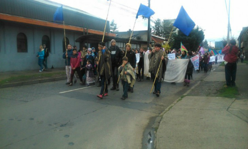 Miles marcharon por la defensa del agua y territorios en Temuco
