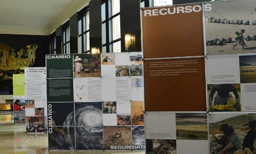 Exposición itinerante aborda impactos del cambio climático y causas de conflictos socioambientales