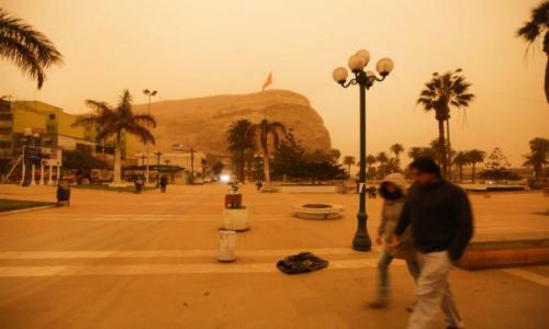 La Nasa declaró su sorpresa por tormenta de arena en el norte