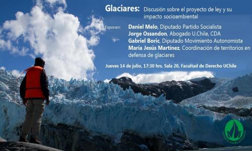 Foro sobre Glaciares en la Escuela de Derecho U de Chile