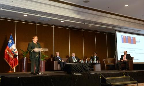 """Presidenta Bachelet: """"Apuntar al crecimiento verde es decidir y actuar"""""""