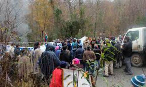 Realizan toma de ruta para oponerse a mini central hidroeléctrica