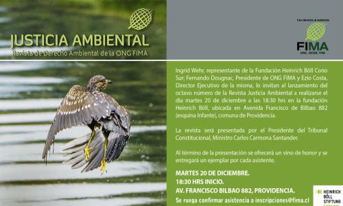 Lanzamiento Revista Justicia Ambiental VIII