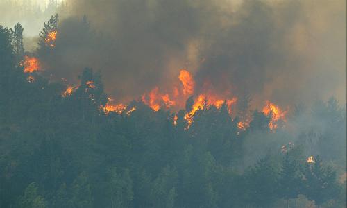 San Antonio al rojo vivo por incendios forestales que amenazan a la población