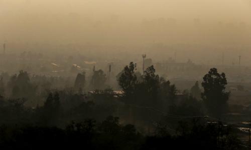 Aire irrespirable en Chillán: superó 4,7 veces el nivel máximo de contaminación