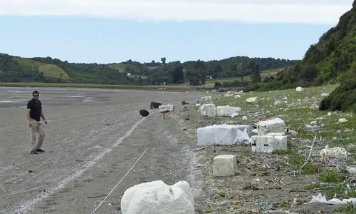 Inédito estudio satelital detecta 30 toneladas de basura en playa de Chiloé