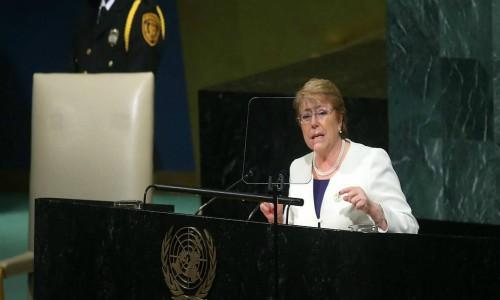 Bachelet en la ONU defiende su legado y se centra en crecimiento sustentable