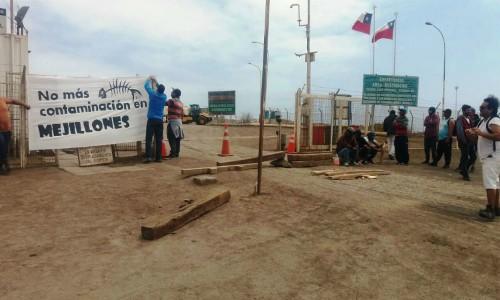 Presentan denuncia en Fiscalía tras derrame en terminal de ácido de Antofagasta Minerals