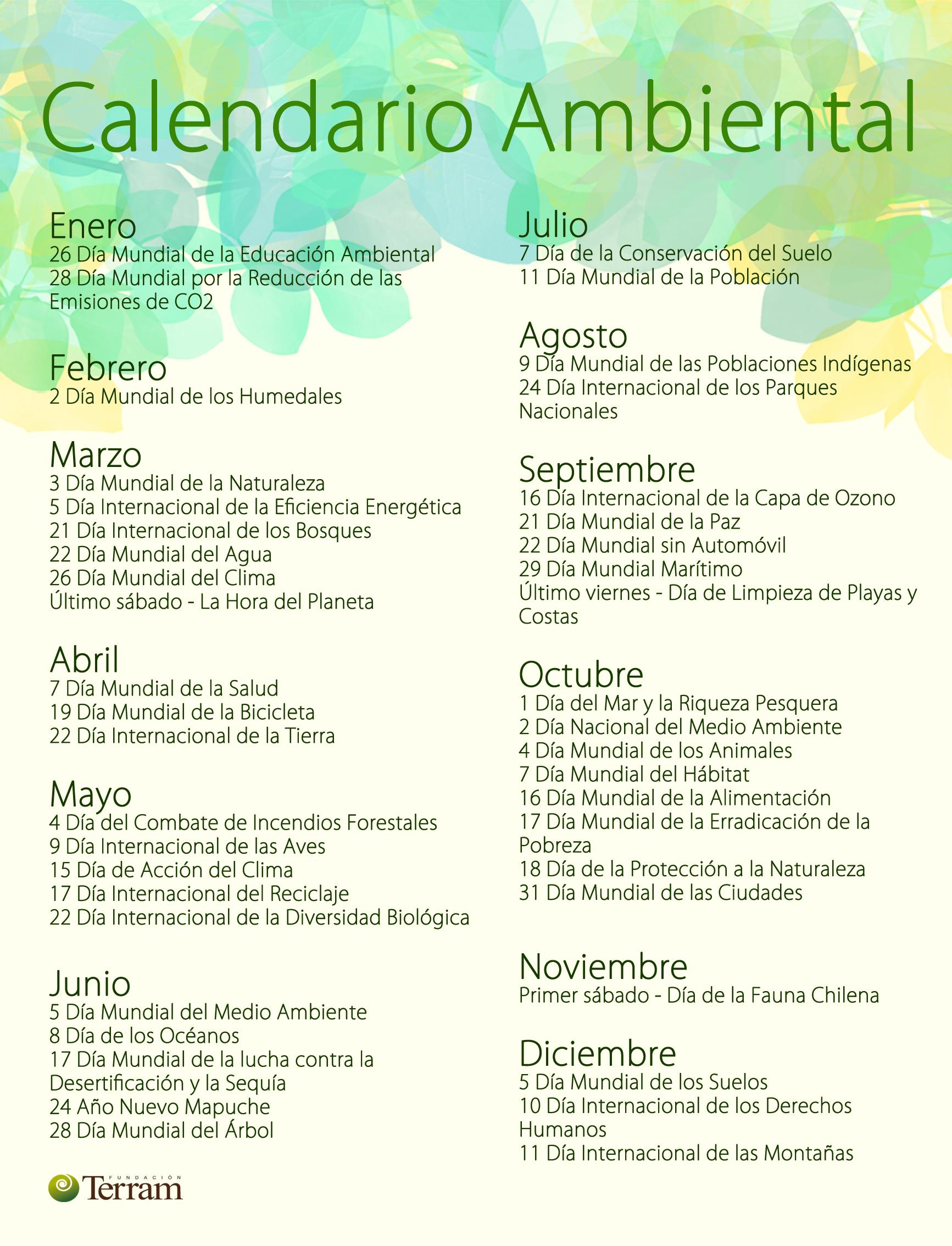 Calendario Ambietal