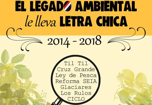 """Balance Ambiental Terram 2017: El legado ambiental """"le lleva"""" letra chica"""