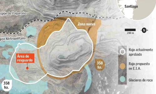 Proyecto de Codelco Andina buscaría preservar glaciares