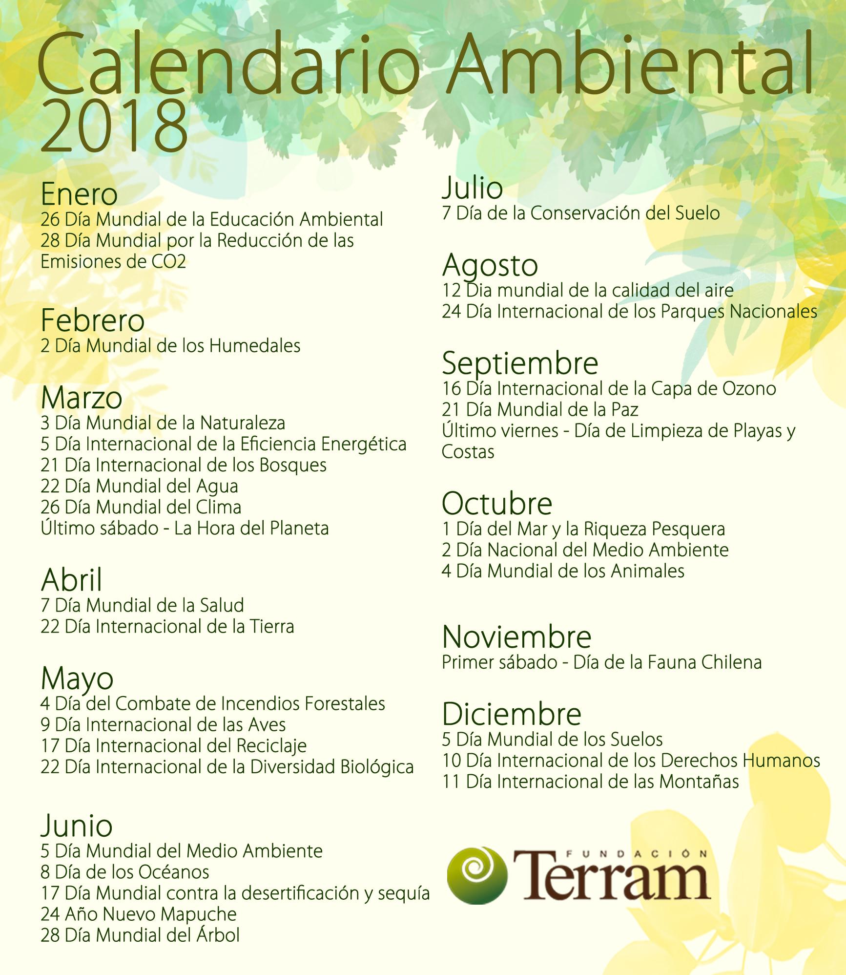 Calendario Ambiental 2018 (2)