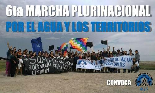 6ta Marcha Plurinacional por el Agua y los Territorios