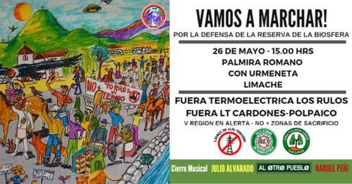 Marcha por la defensa de la reserva de la biósfera