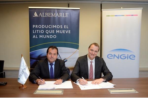 Albemarle firma contrato con Engie para suministro de energía