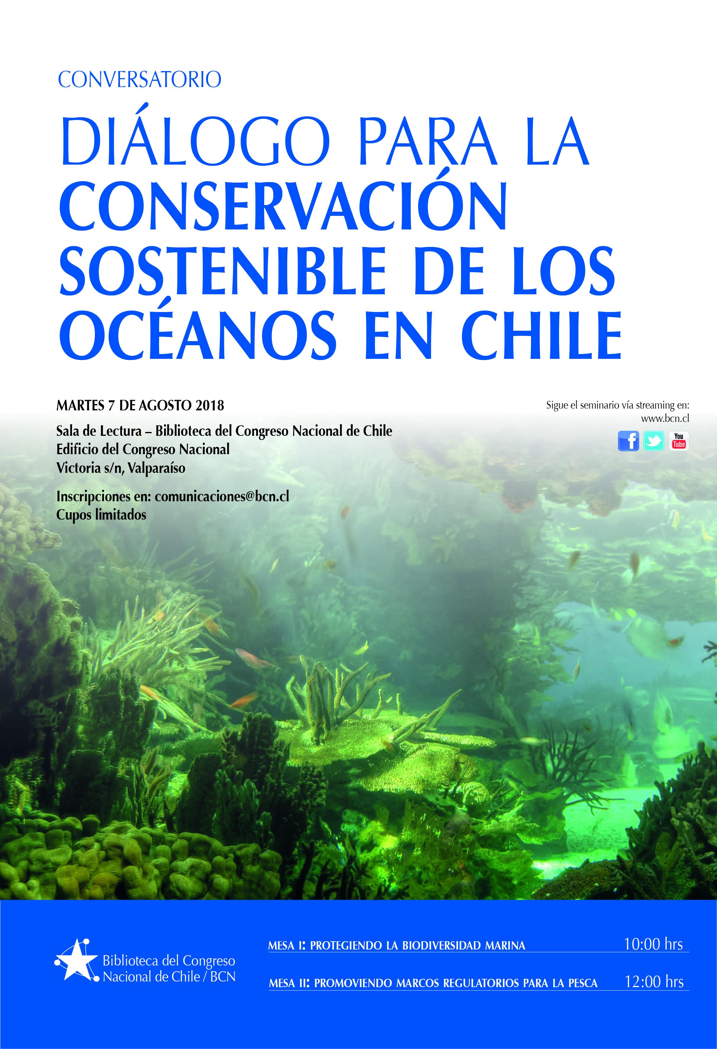 """Conversatorio: """"Diálogo para la conservación sostenible de los océanos en Chile"""""""