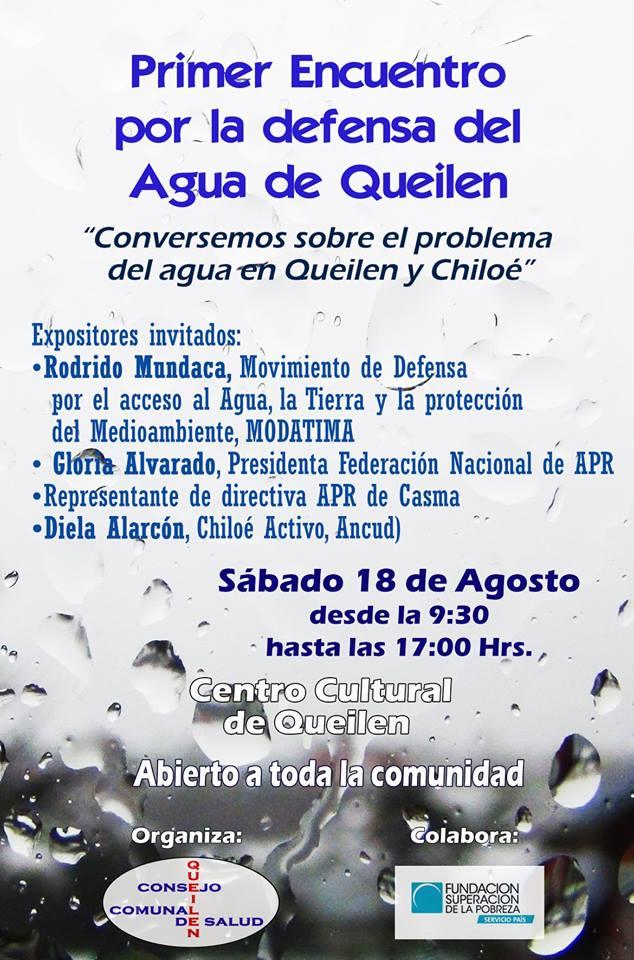 Primer encuentro por la defensa del agua en Queilen