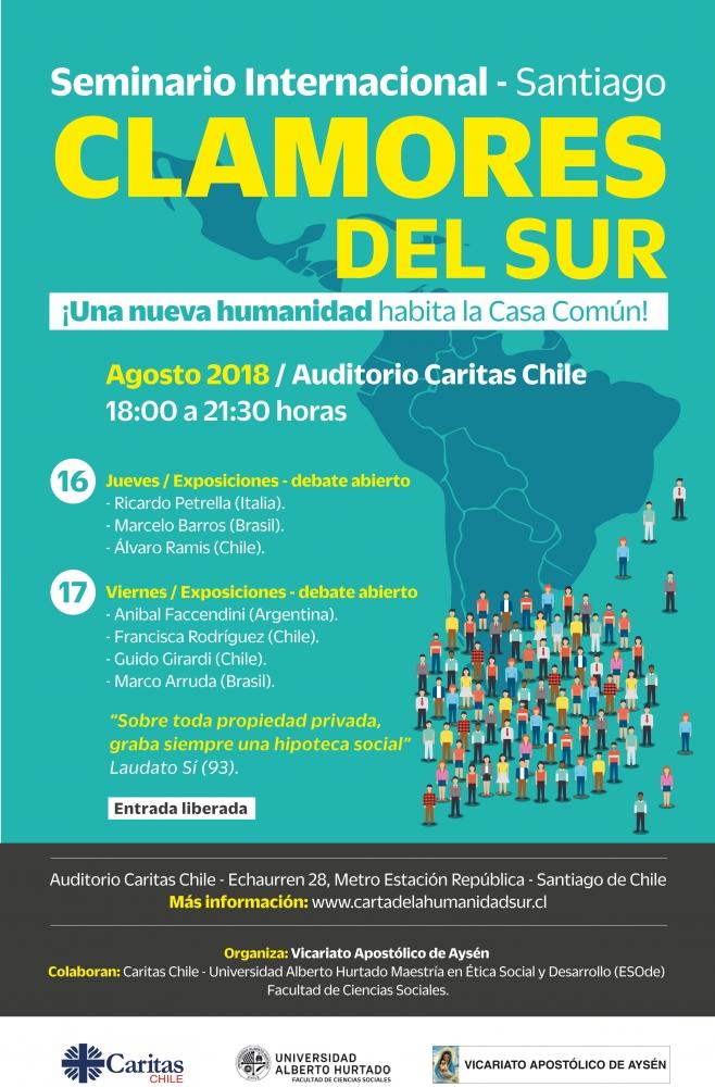 """Seminario Internacional """"Clamores del Sur: ¡Una nueva humanidad habita la casa común"""""""