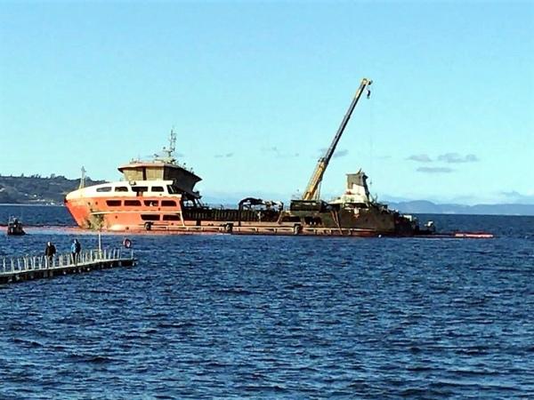 Corte frena el arribo a Talcahuano de buque con salmones muertos