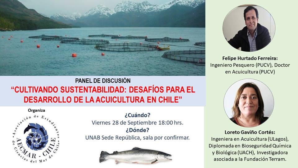 """Panel """"Cultivando sustentabilidad: desafíos para el desarrollo de la acuicultura en Chile"""""""