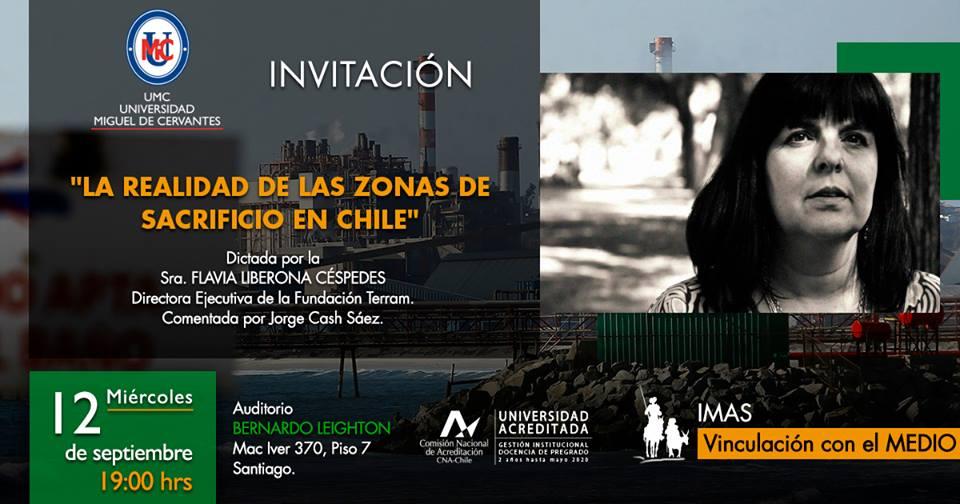 """Conferencia """"La realidad de las Zonas de Sacrificio en Chile"""""""