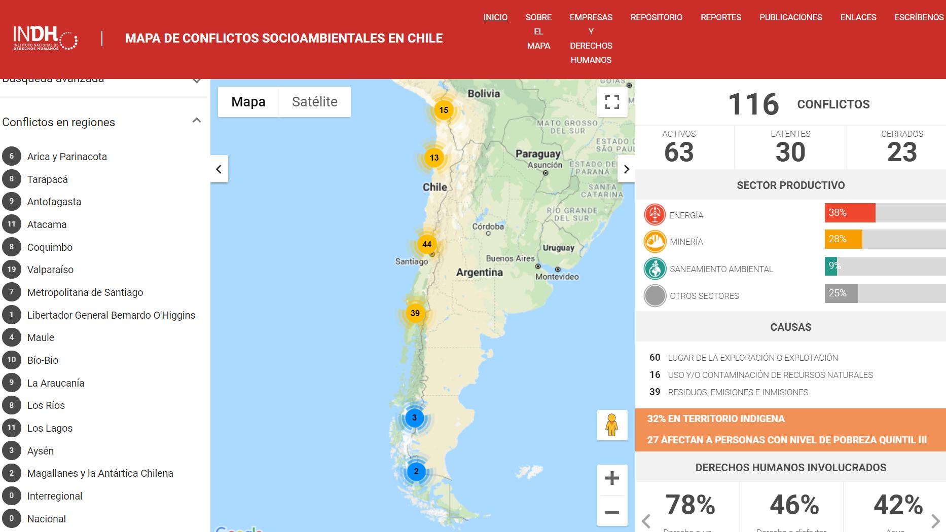 INDH presenta Mapa de conflictos socio-ambientales