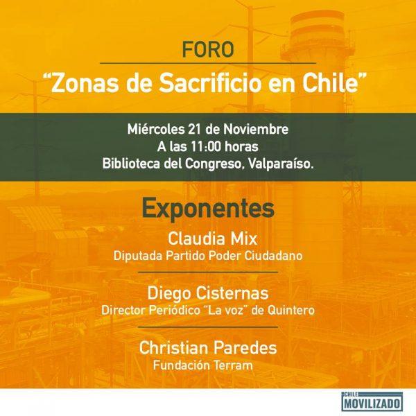 Foro: Zonas de Sacrificio en Chile