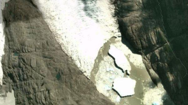 Satélite revela nuevo desprendimiento de un témpano del glaciar Grey en Torres del Paine
